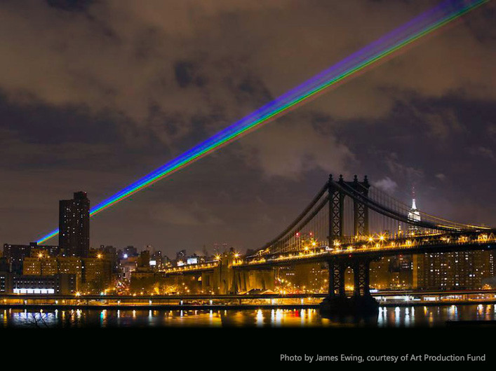 Lightwave International lasers power the Global Rainbow in NYC.