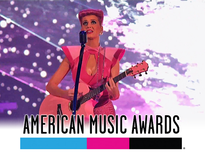 American Music Awards with Katy Perry featuring Lightwave International laser special effects.