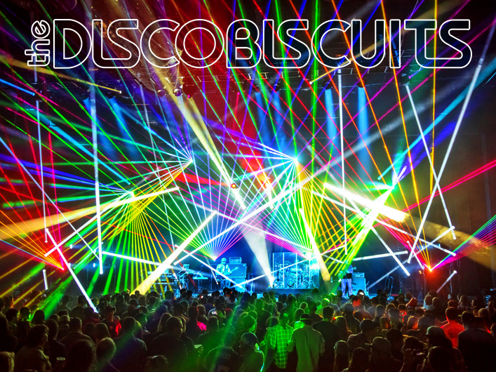 Disco Biscuits using Lightwave International's laser special effects